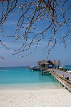 Free Wooden Jetty - Maldives Royalty Free Stock Image - 29619316