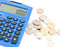 Free Calculator And Thai Coins Royalty Free Stock Image - 29610006