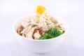 Free Chicken Clear Noodle Soup With Wonton. Royalty Free Stock Photos - 29621838