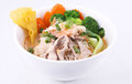 Free Laksa Noodle Soup With Chicken, Fresh Vegetables And Wonton On T Royalty Free Stock Photo - 29621995