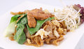 Free Asian Stir Fried Flat Rice Noodles. Pad Se Ew With Chicken. Stock Image - 29622641