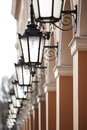 Free Antique Street Lights Row Royalty Free Stock Photos - 29629798