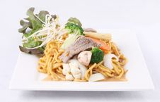 Free Hokkien Noodle Stri Fried With Satay Sauce.Thai Style Food. Stock Photography - 29622042