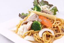 Free Hokkien Noodle Stri Fried With Satay Sauce.Thai Style Food. Royalty Free Stock Image - 29622096