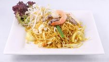 Sigapore Noodles Stir Fried With Vermicelli Noodles. Royalty Free Stock Images