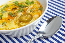 Chicken Soup Closeup Royalty Free Stock Images