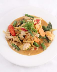Free Chicken Red Curry, Thai Food. Stock Photo - 29623630