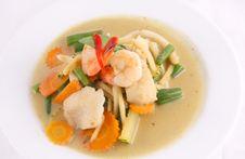 Free Prawn Green Curry, Thai Popular Food. Royalty Free Stock Photo - 29623695