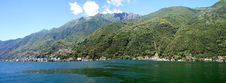 Panorama Lake Maggiore In Switzerland Royalty Free Stock Photo