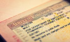 Free Open Passport, Tourist Visa Royalty Free Stock Photo - 29624695