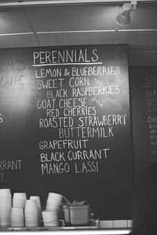 Free Hand Written Ice Cream Flavors In Chalk In An Ice Royalty Free Stock Image - 29625406