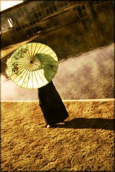 Free Girl With A Parasol Stock Photo - 29625890