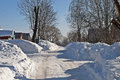 Free Snowdrifts In Russian Village Royalty Free Stock Image - 29635956