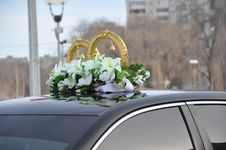 Free Wedding Car Decoration Stock Image - 29631791