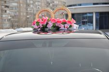 Free Wedding Car Decoration Royalty Free Stock Image - 29631796