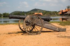 Free Thai Ancient Cannon. Stock Image - 29633181
