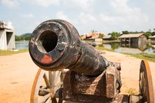 Free Thai Ancient Cannon. Royalty Free Stock Photos - 29633198