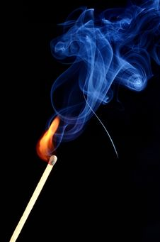 Free Burning Match Stock Photo - 29633380