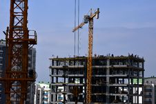 Free People Working And Building Construction, Crane Stock Images - 29634274