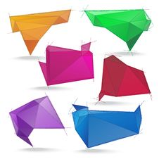 Free Abstract Origami Speech Bubble Stock Photography - 29645422