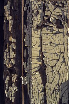 Old Wooden Wall With Old Peeled-off Paint Stock Photos