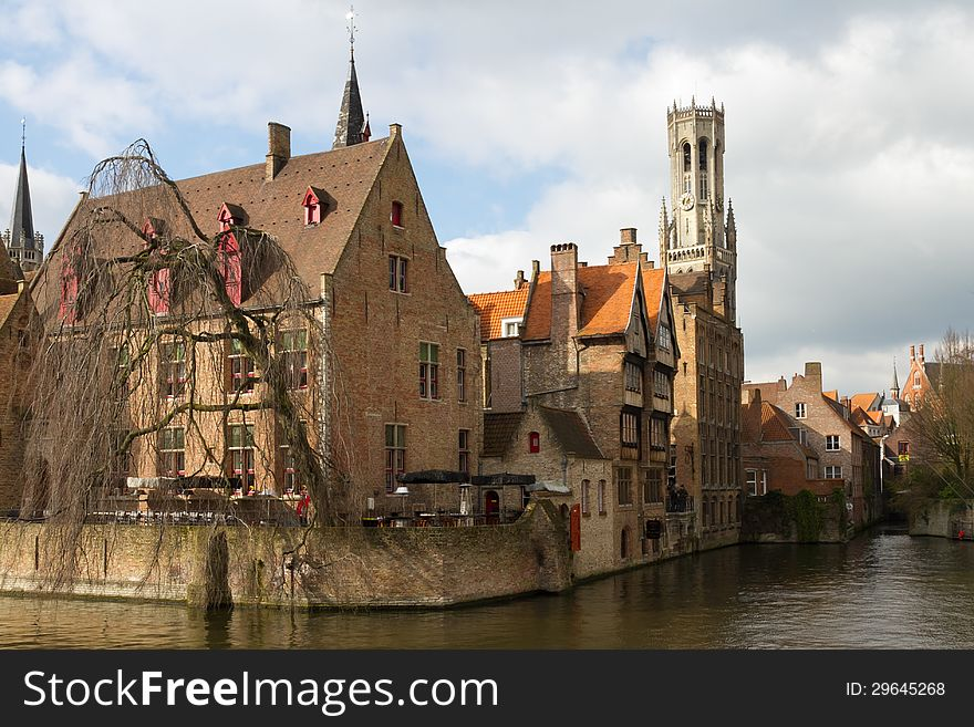 View of the canals of Bruges 3