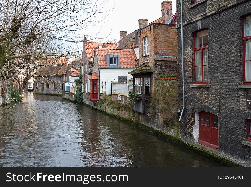 View of the canals of Bruges