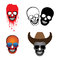 Free Illustration Of Skulls With Hat, Glasses And Blood Spilling Stock Images - 29643004