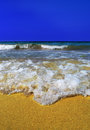 Free Sea Wave In The Yellow Sand Stock Images - 29656094