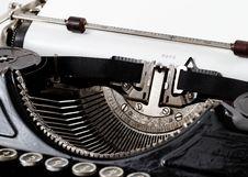 Free Old Typewriter Royalty Free Stock Photo - 29653385