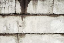 Dirty Old Wall From Concrete Blocks Stock Photo