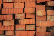 Free Old Red Bricks Randomly Lying Stock Photography - 29654772