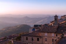 Free San Marino At Sunset Royalty Free Stock Photos - 29655498