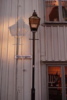Free Swedish Street Lamp Stock Photos - 29656173