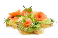 Free Smoked Salmon Appetizers Stock Image - 29659061
