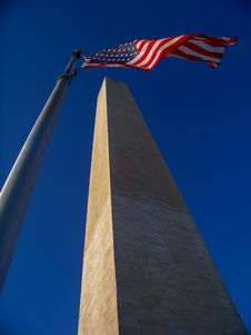 United States Washington Monument, Or Obelisk, In Royalty Free Stock Photography