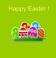 Free Paper Card With Easter Eggs Royalty Free Stock Photography - 29664277