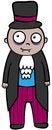 Free Cartoon Vampire Royalty Free Stock Image - 29672786