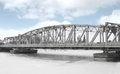 Free Girder Bridge Over A Frozen River. Royalty Free Stock Photo - 29674975