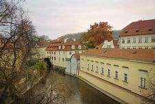 Free River Certovka In Historic Part Of Prague Royalty Free Stock Image - 29671996