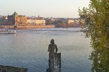 Free Statue Of The Knight Bruncvik, Charles Bridge, Prague Stock Image - 29672051