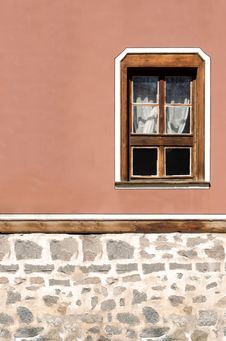 Facade Of The Old House, Plovdiv, Bulgaria Royalty Free Stock Photos