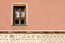 Facade Of The Old Building In Plovdiv, Bulgaria Stock Photos