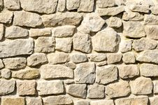 Free Wall Made of Crushed Rocks Stock Photo - 29674810