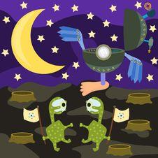 Free Alien Landing Royalty Free Stock Photos - 29675568