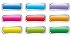 Flat Color Buttons Stock Photo