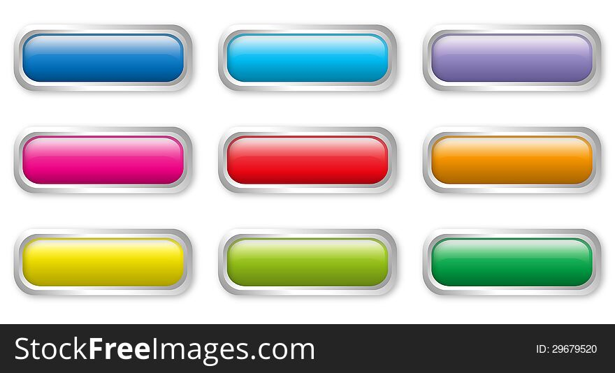 Flat color buttons