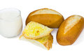 Free French Baguette And Milk Stock Image - 29684461