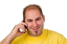 Free Man Calling On The Phone Royalty Free Stock Image - 29680356