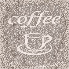 Free Vector Stylized Cup Of Coffee With Beans Stock Images - 29680854